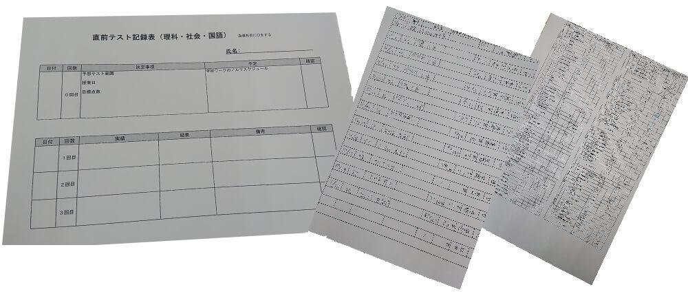 石井進学塾51点アップ 豊富な管理帳票
